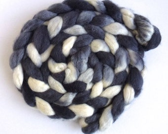 BFL Wool Roving - Hand Painted Spinning or Felting Fiber, Accomplice