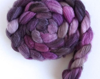 Merino/ Superwash Merino/ Silk Roving (Top) - Handpainted Spinning or Felting Fiber, Velvet Jacket