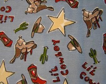 Lil Cowboy Corduroy Fabric 1 5/8 Yd