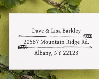 Address Stamp, Custom Address Stamp, Return address stamp, Personalized Rubber Stamp, Invitations, Self Inking Rubber Stamp - 1016