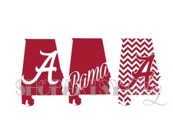 University of Alabama Bama Decal Art