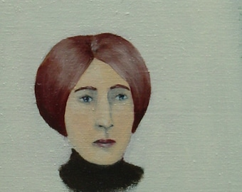 Ella Bell - Original Little Portrait Painting by Elizabeth Bauman