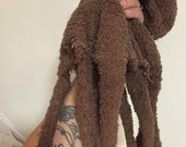 Octopus ! Cute brown terry cloth octopus - primative