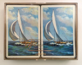 Sailboats Canasta Decks by Hampshire
