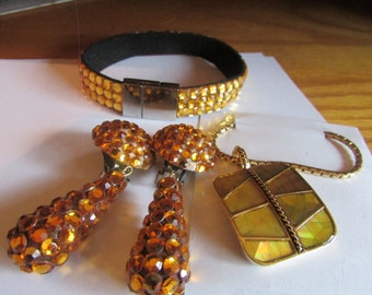 Yellow and amber jewelry