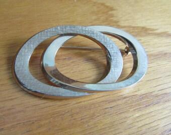 ovals brooch