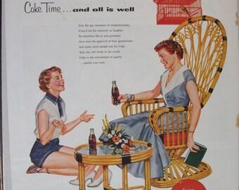 225 Coca-Cola Ad  - 1954