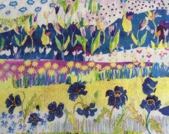 Liberty of London tana lawn fabric Posy Landscape NEW 2016 Liberty tissu