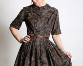 ON SALE Paisley Shirtwaist Dress