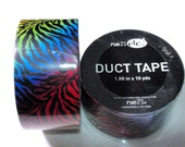 Rare Discontinued Rue 21 Duct Tape Roll Rainbow Tiger Zebra Stripes Duck Duct Tape Deco