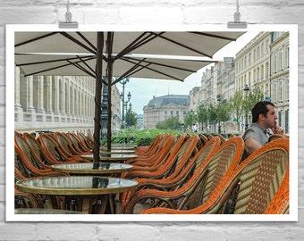 Bordeaux France, Street Photography, People Photography, City of Bordeaux, Café Art, Street Art, Urban Art, City Art, Art for Living Room