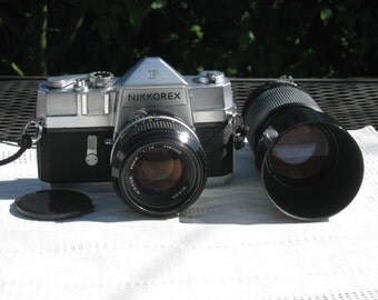 Film Tested Vintage Nikkorex F 35mm Manual Camera Perfect Student Camera