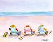 "Custom watercolor for Shelley-   ""Six Beach Amigos"""
