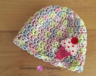 Newborn cupcake hat.. Photography prop.. Ready to ship