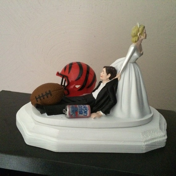 Cincinnati Bengals Wedding Cake Topper Bridal Funny Football