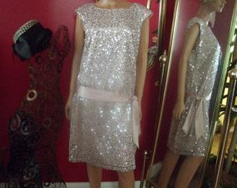 Vng Beaded Flapper Dress  Flirty  Darling Dress Size 14