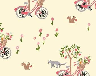Lazy Sunday - Bloom by Monaluna Organic Fabric -  100% Organic Cotton Poplin BL-08-BLT