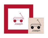 Wagon Personalized Rubber Stamp