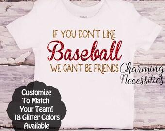 Baseball Sister Shirt, Fan, Baby Girl Clothes, Toddler Girl Clothes, Baby Girl Outfits, If You Don't Like Baseball Custom Personalized