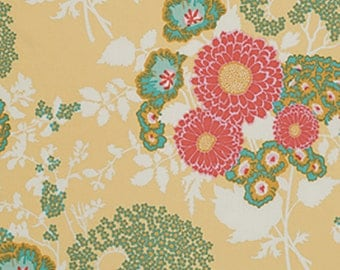 Joel Dewberry Fabric by the Yard - Botanique - Bold Bouquet in Butternut - Quilter's Cotton