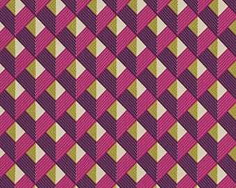 Joel Dewberry Fabric by the Yard - Bungalow - Chevron in Lavender - Quilter's Cotton
