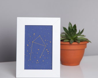 Libra Zodiac Embroidery Kit - diy constellation embroidery kit