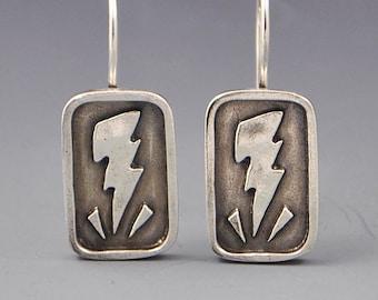 Fearlessness- Lightning Strike Sterling Silver Affirmation Earrings by Dana Evans Studio
