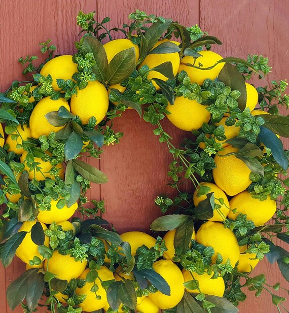 Lemon Wreath.....