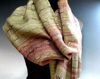 Handwoven Silk and Wool Scarf: Gradually