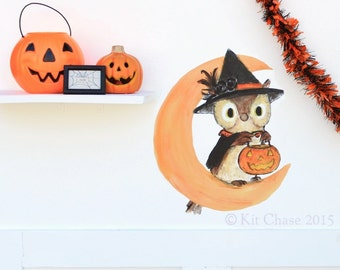 Halloween Owl -- Wall Decal