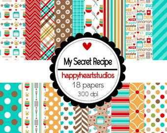 DigitalScrapbooking-MySecretRecipe-InstantDownload