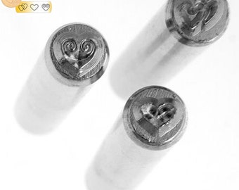 One Package (3 Pieces) Metal Design Stamp - Love 6mm