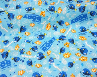 Disney Cartoon Pixar series Finding Dory 50 cm by 53 cm or 19.6 by 21 inches Made in Japan