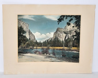 Vintage John Marcy Garrison Hand Painted Photograph