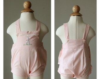 ON SALE 1940s Bunny Sunsuit >>> Size 0 to 3 Months