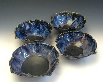 Lotus Cereal Bowl in Galaxy Blue