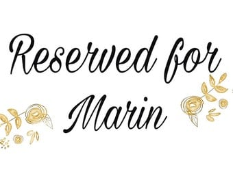 RESERVED for Marin