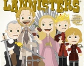 The Lannisters - 12.5 x 12.5 PRINT