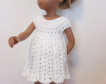 White Crocheted Dress For Sasha with Slip