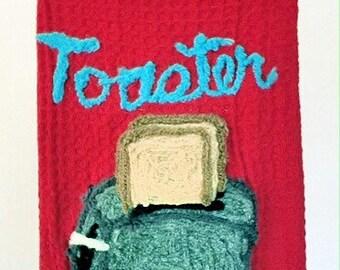 Retro Toaster Kitchen Towel