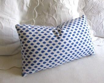 Sahara Pacific blue decorative Pillow 12x20 includes insert