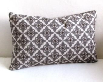PEWTER brown brindle decorative lumbar Pillow includes insert 12x18 12x20 12x22 12x24