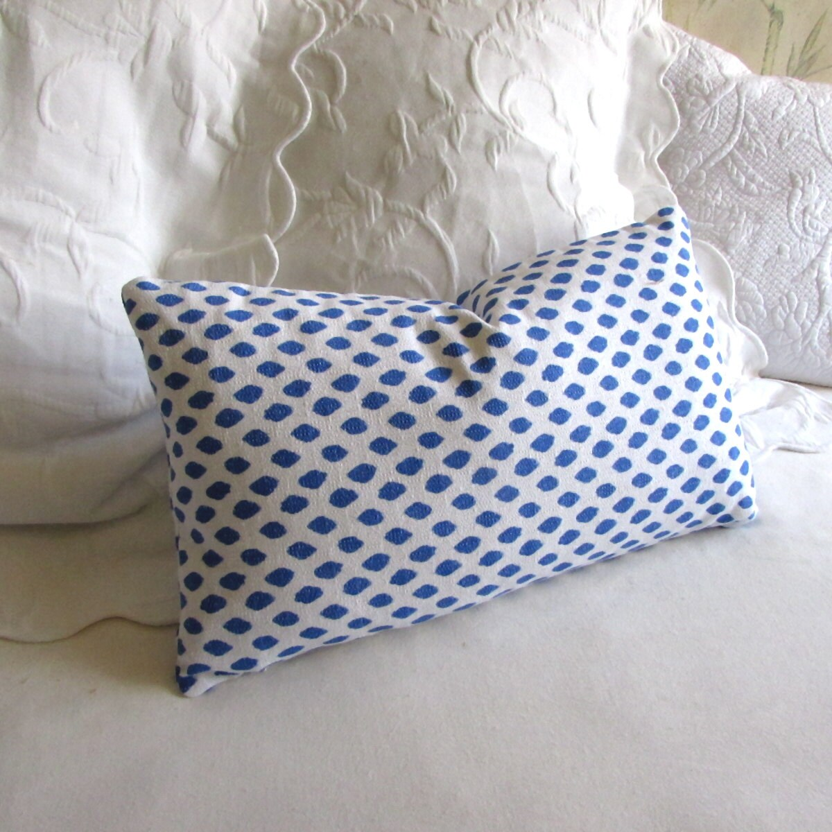 Sahara Pacific blue decorative Pillow 12x20 includes insert