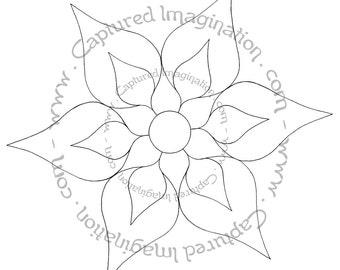 DIY Coloring Page - Flower Mandala Starter - Instant Download