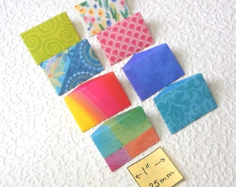 Miniature Envelopes and Stationery, set of 8, mixed patterns