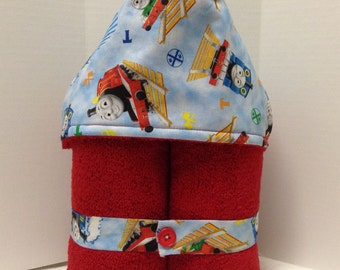 Thomas the Tank Engine -- Choo Choo Train Hooded Towel