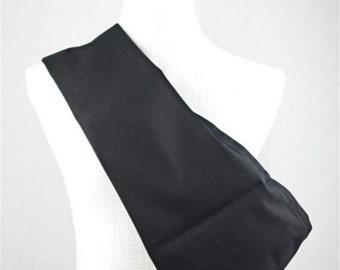 SALE - Large Black Flannelette Pouch