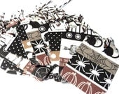 23 Halloween Gift Tags,  Party Favor Tags, Brown black White, Pumpkins, Spiders, Black Cats, Bats, Skeletons