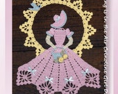 0740 Spring is in the Air Crinoline Girl Doily Crochet Pattern