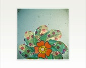 CLEARANCE SALE! Pin Wheel Art, Summer Wall Art - The Silver Flower